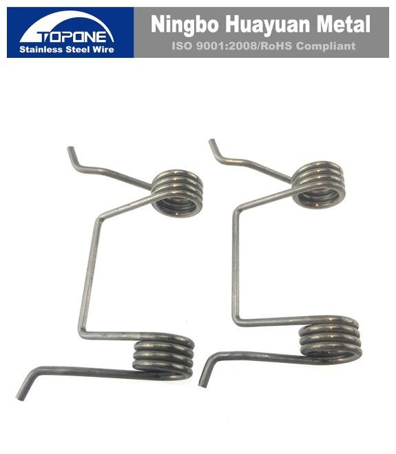 Industrial Stainless Steel Wire Forming Zinc Plated Double Spiral Torsion Spring